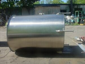1000 Gallon Sanitary Stainless Steel Tank With Slant Bottom