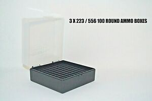 10 X BERRY'S PLASTIC STORAGE AMMO BOX CLEAR COLOR 223556 ACP 100 rd $49.95