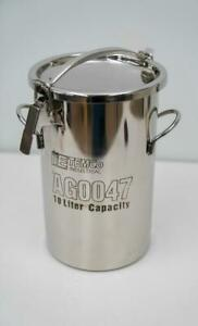 Temco Industrial Ag0047 10l 2 5 Gallon Stainless Steel Jug