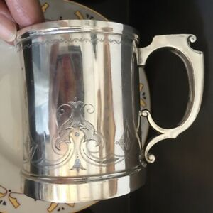 Early Gorham Silver Cup Mug Ca 1856 1870 Engraved Anchor Mark