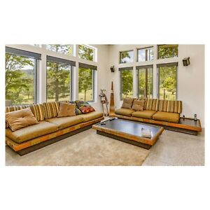 Mid Century Modern Adrian Pearsall Platform Sectional Sofa Set Table Will Ship