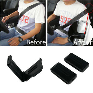 2x Car Seat Belt Adjuster Buckle Strap Comfort Seatbelt Clips Extender Stopper