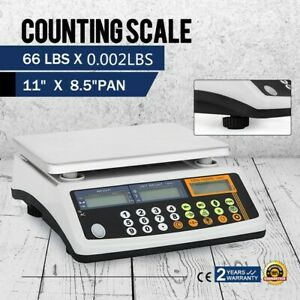 Digital Parts Coin Precise Counting Scale 66lb X 0 002 Lb Capacity Inventory