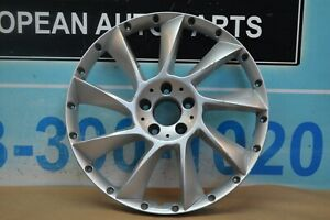 Single Mercedes Benz Lorinser Lm6 20 2 Pieces Wheel Rim Silver Face Only 1