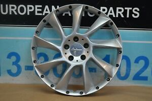 Single Mercedes Benz Lorinser Lm6 20 2 Pieces Wheel Rim Silver Face Only 3