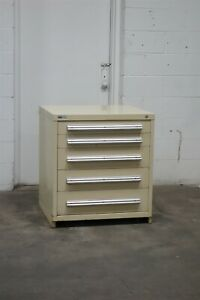 Used Vidmar 5 Drawer Cabinet 33 High Industrial Bench Height Storage 1833