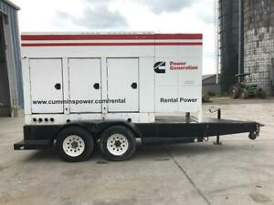 _200 Kw Cummins Onan Generator Set Base Fuel Tank Sound Attenuated Trailer