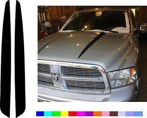 100 Made In Usa For 2009 2018 Dodge Ram 1500 Hood Vinyl Decal Stripe Stickers