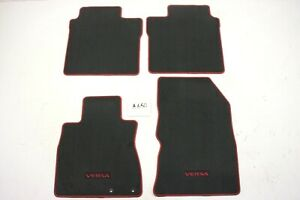 New Oem Black With Red Piping 4 Piece Floor Mats Nissan Versa Note 14 19 Set
