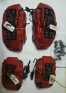 2004 Porsche Cayenne Turbo Brembo Brake Calipers Red Set 4 Front Rear L R