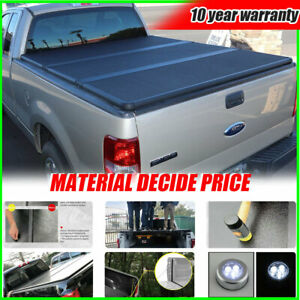 Bed Cover For 09 2019 Dodge Ram 1500 2500 3500 5 7ft Hard Solid Tri fold Tonneau