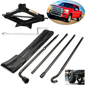 Repair Spare Tire Tool Kit With Scissor Jack Black Steel For Ford 2004 2014 F150