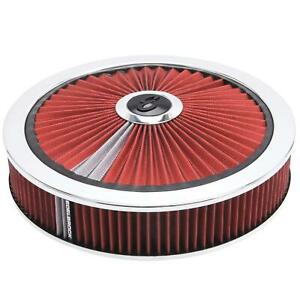 Edelbrock 43660 Pro flo High Flow Air Cleaner Assembly round 3in red