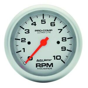 Autometer 4497 Ultra Lite Air Core In Dash Tach 10k Rpm 3 3 8
