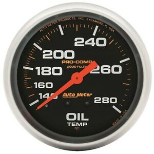 Autometer 5441 Pro comp Mechanical Oil Temperature Gauge 2 5 8