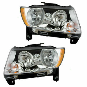 For Jeep Compass 2011 2012 2013 Headlight Right Left Pair