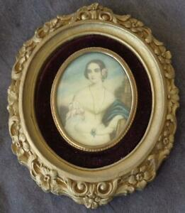 Beautiful Antique Art Frame With Convex Front Display Isabella Montgomery