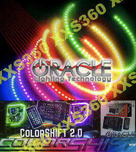 Oracle Headlight Halo Kit Rings Bentley Arnage 99 06 Colorshift 2 0 With Remote