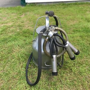 Delaval Milker Milking Machine Stainless Steel Bucket Pail W pulsator Cups Cow