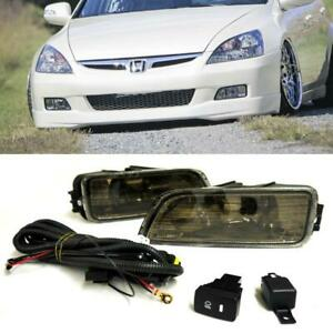 For 03 07 Honda Accord 04 08 Acura Tl Sedan Smoke Fog Light Driving Lamps switch