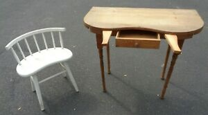 Vtg Kidney Shaped Desk Dressing Table Vanity Chair Pick Up New Jersey Only