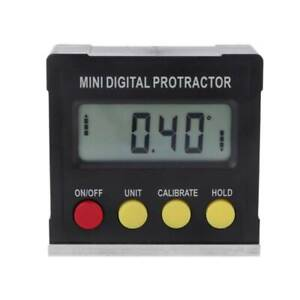 360 Degree Digital Inclinometer Protractor Electronic Level Box Magnetic Base