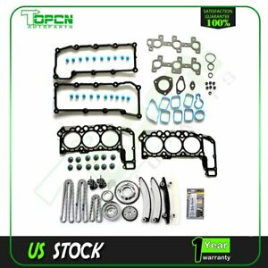 For 02 03 Dodge Ram 1500 Jeep Liberty 3 7l Timing Chain With Kit Head Gasket Set