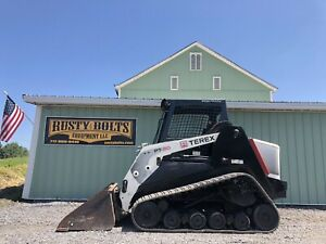 2012 Terex Pt80 Positrack Skid Steer Loader Asv High Flow Cheap Shipping