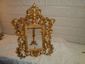Metal Standing Victorian Picture Frame 4 5 X 5 5 Inches 1209