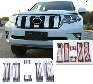 For Toyota Land Cruiser Prado Fj150 18 19 Car Front Grille Grid Net Cover Trim
