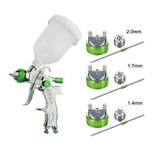 2008hvlp Paint Air Spray Gun Kit Gravity Feed Car Primer 1 4mm 2 0mm Nozzle New