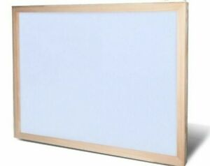 Wood Frame White Board Writing Office School Supplies Magnetic Dry Erase Drawing