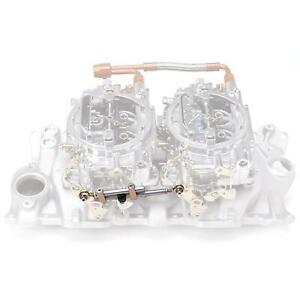 Edelbrock 7094 Dual Quad Chevy Ford Intake Manifold Carburetor Linkage Kit