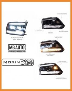 For 09 18 Dodge Ram 1500 2500 3500morimoto Xb Led Headlights Led Projector Pair