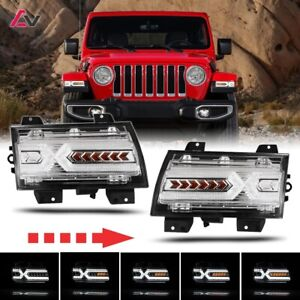2018 Jeep Wrangler Jl Gladiator Jt X Shape Led Drl Sequential Turn Signal