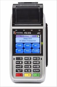 First Data Fd410 Dw Emv Nfc Wireless Credit Card Machine