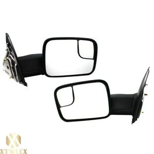 Left right Side Manual Towing Mirror For 02 08 Dodge Ram 1500 03 09 2500 3500