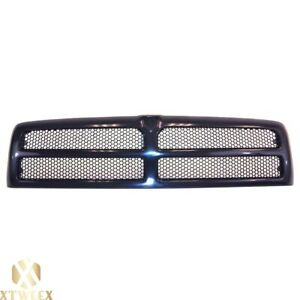 Black Grille W honeycomb Mesh For 94 02 Dodge Ram Pickup Truck 1500 2500 3500