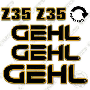 Gehl Z35 Decal Kit Compact Excavator Decals Z 35 z 35 Stickers Mini