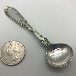 Antique Hall And Elton Salt Spoon 1890s 3 3 4 Long