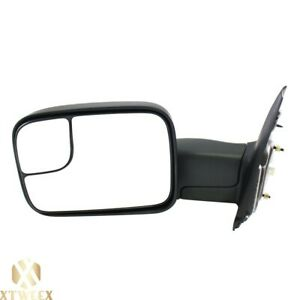 Left Driver Side Power Heated Towing Mirror For 02 08 Ram 1500 03 09 2500 3500