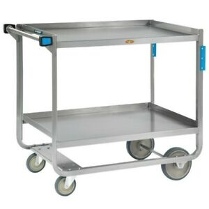 Lakeside 953 Heavy duty Stainless Steel Two Shelf Traditional Utility Cart 48