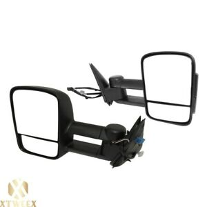 Left Right Side Towing Mirror Power Heated For 03 07 Silverado Sierra Pickup