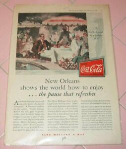 Vintage Literary Digest Coca Cola Ad 1930 New Orleans Pause 9 Million Day Coke