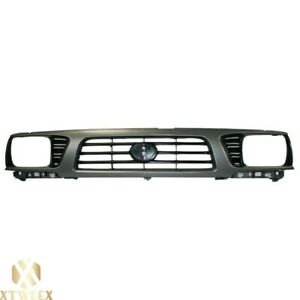 Gray Front Grille Grill W Black Insert For 95 97 Toyota Tacoma 4wd To1200198