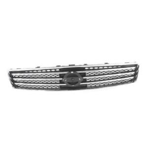 Chrome Grille W Dark Gray Insert Assembly For 2009 2011 Nissan Maxima S Sv