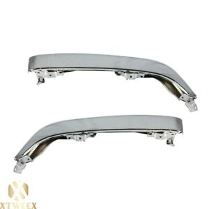 Chrome Left Right Side Bumper End Cap Cover Extension For 98 00 Toyota Tacoma