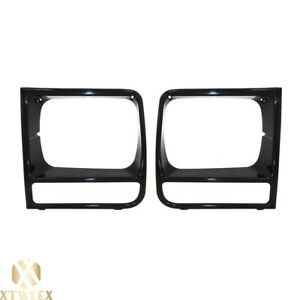 Left right Side Headlamp Headlight Door Bezel For 98 01 Jeep Cherokee