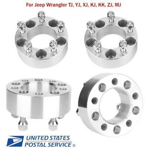 4 2 Wheel Spacers Adapters 5x4 5 Fit For Jeep Wrangler Tj Yj Xj Kj Kk Zj Mj