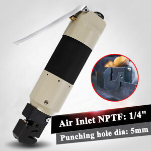 Pneumatic Air Powered Punch Flange Auto Body Welding Sheet Metal Tool 5mm Hole